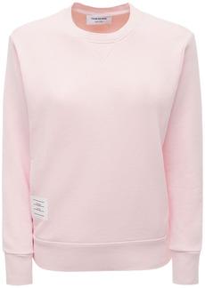 Thom Browne Cotton Jersey Crewneck Sweatshirt