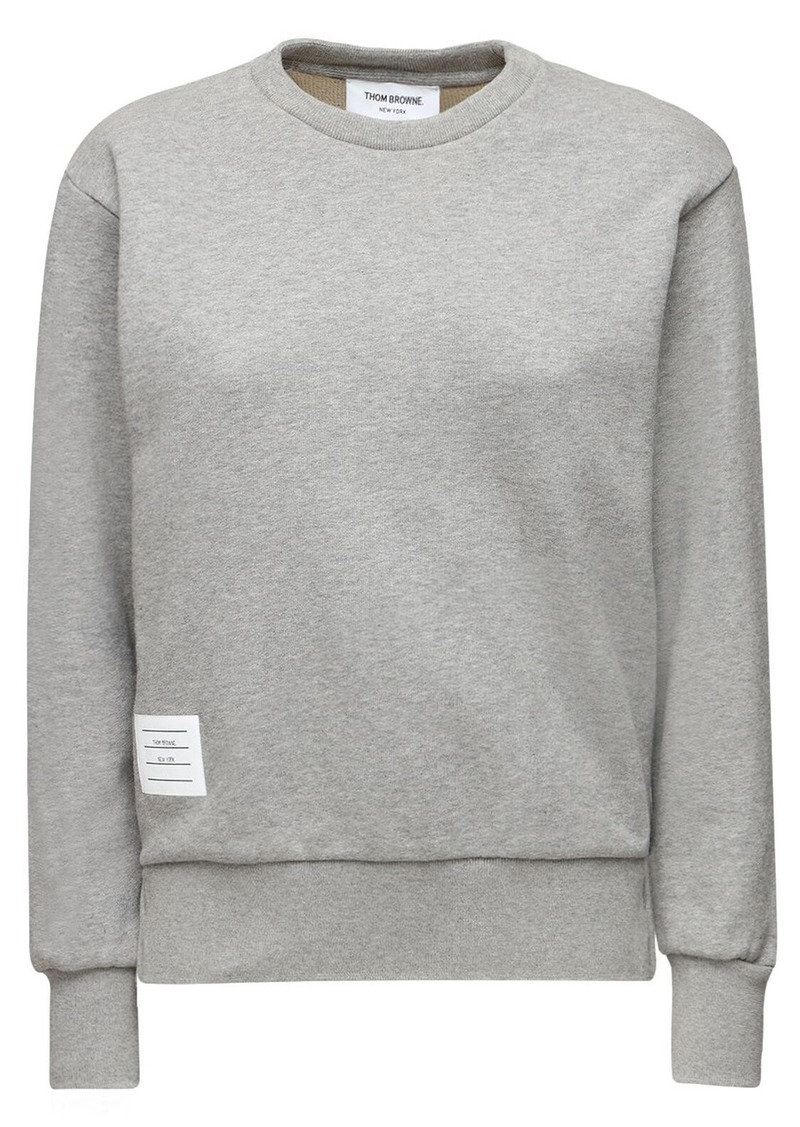 Thom Browne Cotton Sweatshirt W/ Back Stripes