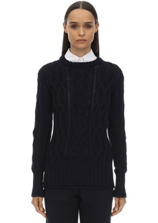 Thom Browne Crewneck Merino Wool Knit Sweater