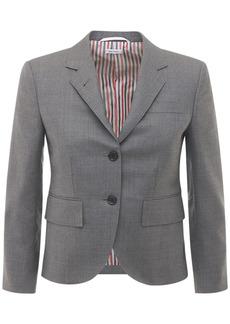 Thom Browne Cropped Wool Twill Jacket