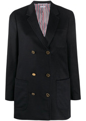 Thom Browne double-breasted zibeline sack jacket