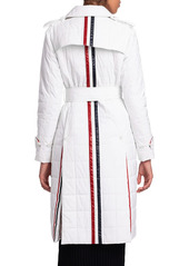 Thom Browne Down Fill Trench Overcoat