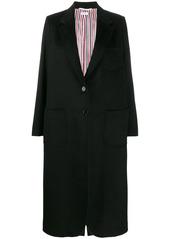Thom Browne elongated cashemre zibeline sack overcoat