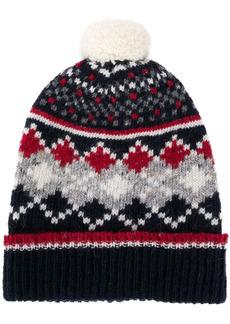 Thom Browne fair isle knitted hat