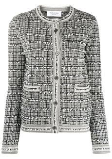 Thom Browne fitted tweed cardigan
