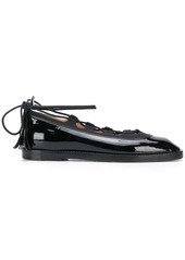Thom Browne Ghillie patent leather ballerina shoes