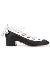 Thom Browne Ghillie block-heel pumps