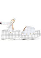 Thom Browne gingham check clog sandals
