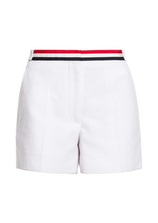 Thom Browne Grosgrain-Trimmed Cotton Shorts