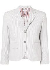 Thom Browne Half-Lined Seersucker Sport Coat