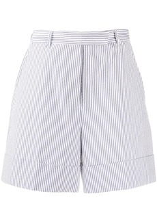 Thom Browne high-waist striped shorts