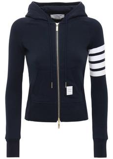 Thom Browne Intarsia Zip-up Cotton Sweatshirt Hoodie