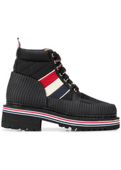 Thom Browne tricolour stripe hiking boots