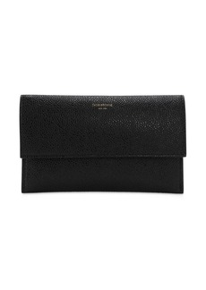 Thom Browne Mini Grained Leather Flap Wallet