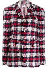 Thom Browne Narrow Shoulder SB Sack Jacket w/ Combo In Tartan Check Wool Twill