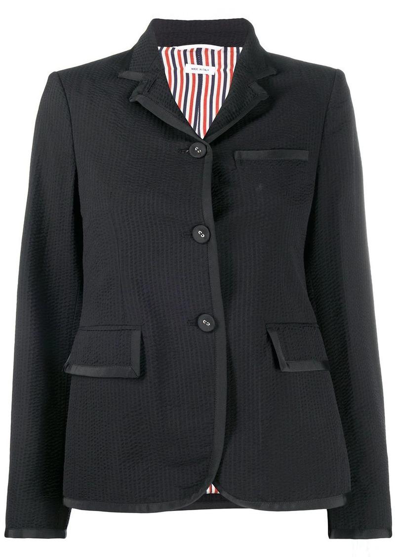 Thom Browne seersucker narrow shoulder jacket