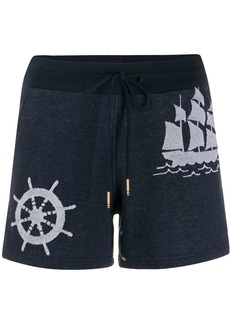Thom Browne nautical print shorts