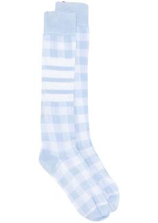 Thom Browne over-the-calf check socks