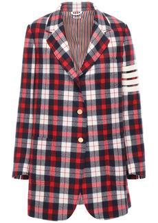 Thom Browne Oversize Check Wool Blazer Jacket