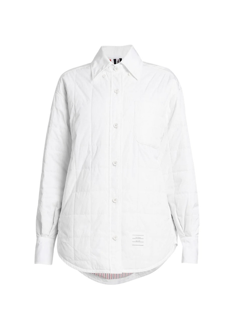 Thom Browne Oversized Down Fill Overshirt
