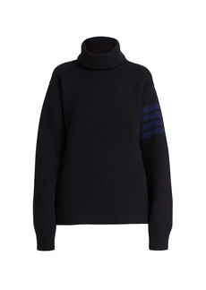 Thom Browne Overwashed Wool & Cashmere Turtleneck