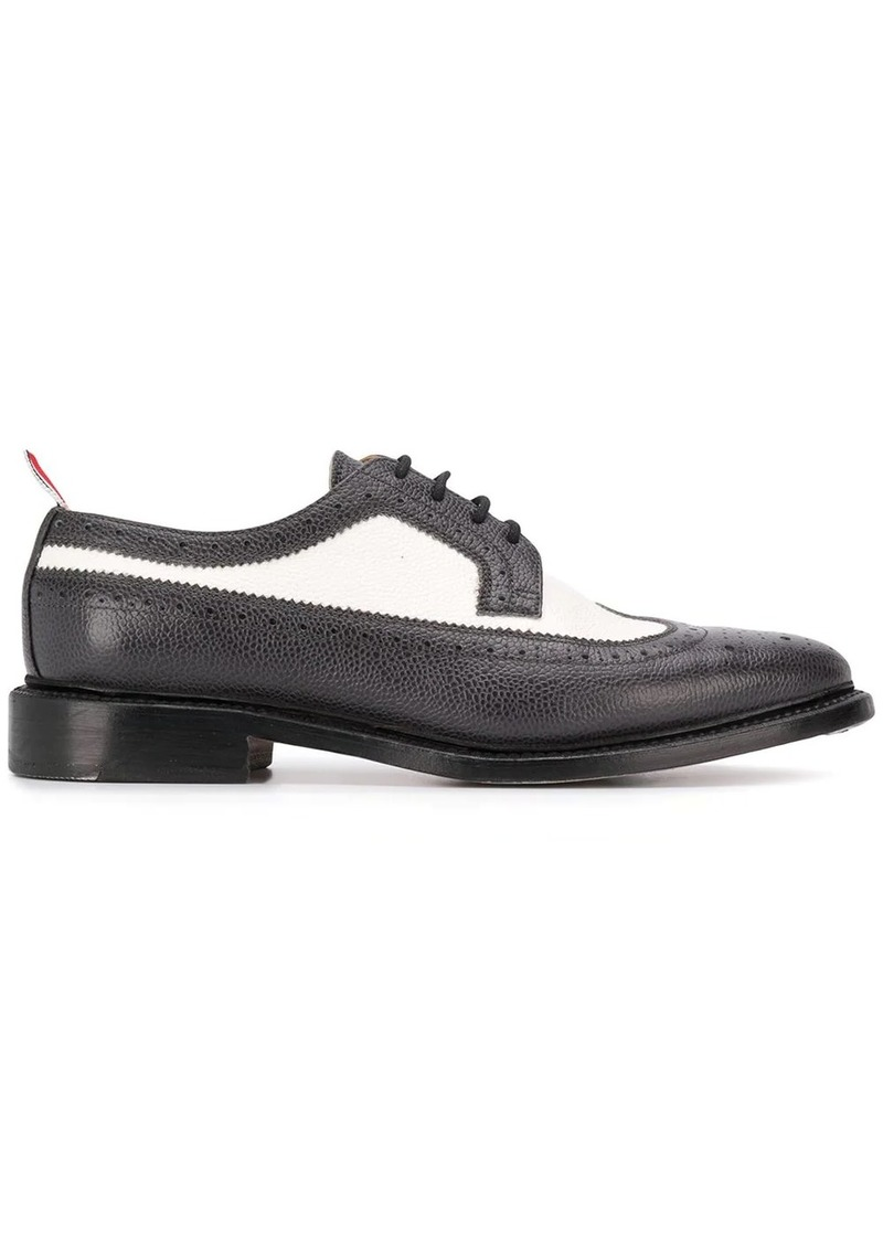 Thom Browne panelled pointed-toe brogues