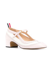 Thom Browne Spectator Mary Jane block heel brogue pumps