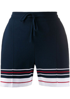 Thom Browne Pin Tuck Double Cricket Stripe shorts