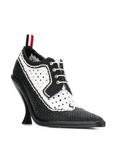 Thom Browne Spectator curved heel woven brogue pumps