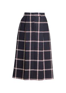 Thom Browne Prince Of Wales Tweed Check Skirt