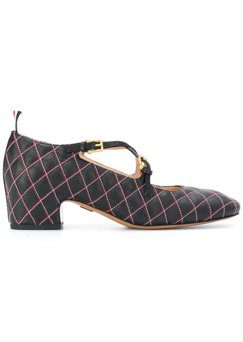 Thom Browne quilted leather pumps