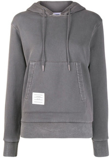 Thom Browne relaxed logo-patch pullover hoodie