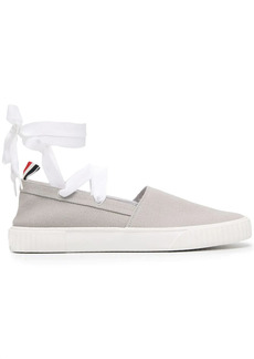 Thom Browne removable tie espadrille sneakers