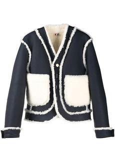Thom Browne reversible shearling leather jacket
