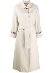 Thom Browne raglan-sleeve waterproof trench overcoat