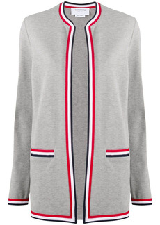 Thom Browne RWB-trim cardi-coat