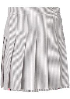 Thom Browne Seersucker Mini Pleated Skirt