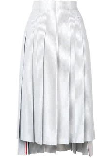 Thom Browne Seersucker Pleated Skirt