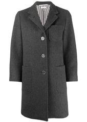 Thom Browne single-breasted cashmere sack overcoat