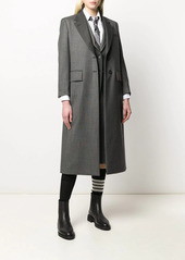 Thom Browne wide lapel wool overcoat