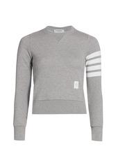 Thom Browne Slim Cotton Crewneck Sweatshirt