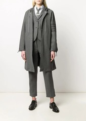 Thom Browne tonal 4-Bar cotton twill jacket