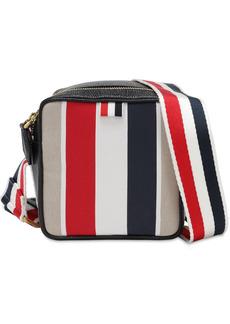 Thom Browne Striped Canvas & Leather Crossbody Bag