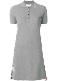 Thom Browne Striped Cotton Pique Polo Dress