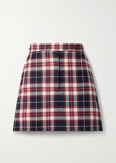 Thom Browne Tartan Wool-flannel Mini Skirt