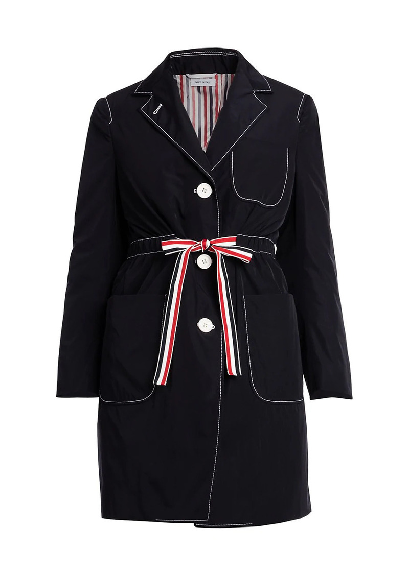 Thom Browne Technical Gabardine Sack Overcoat