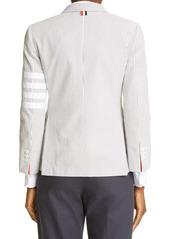 Thom Browne 4-Bar Cotton Seersucker Jacket