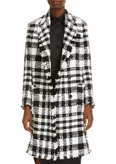 Thom Browne Fray Chenille Coat