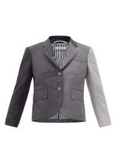 Thom Browne Gradient wool-flannel cropped jacket