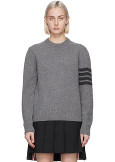 Thom Browne Grey Cashmere 4-Bar Sweater